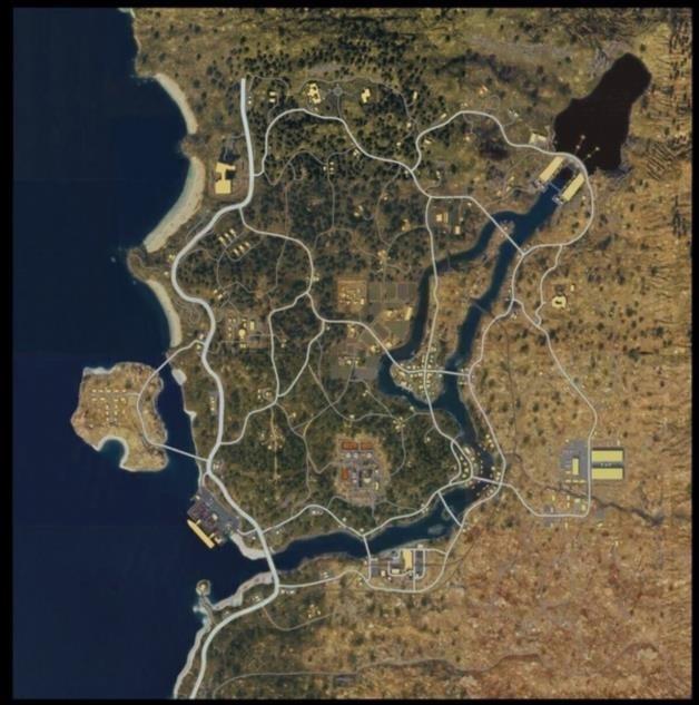 Полная карта королевской битвы Call Of Duty Black Ops 4