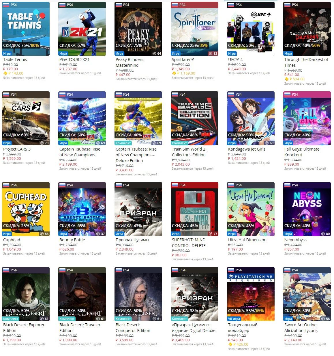 В PS Store началась новая большая распродажа
