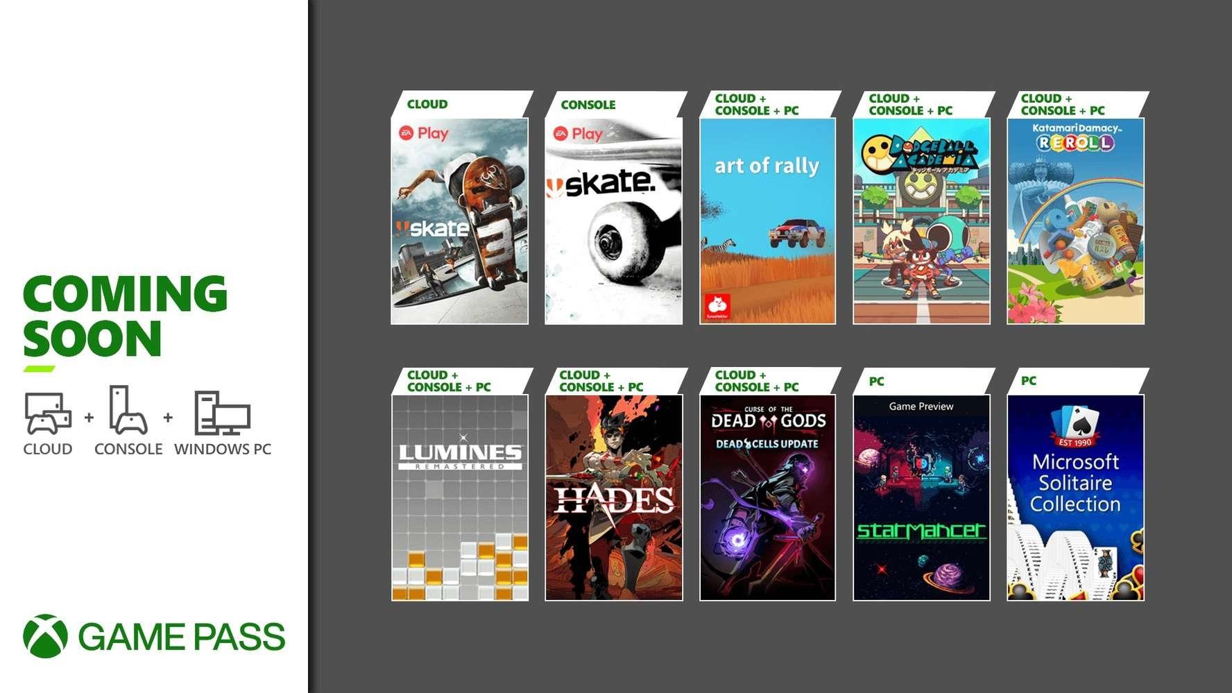 Свежие игры по подписке Xbox Game Pass