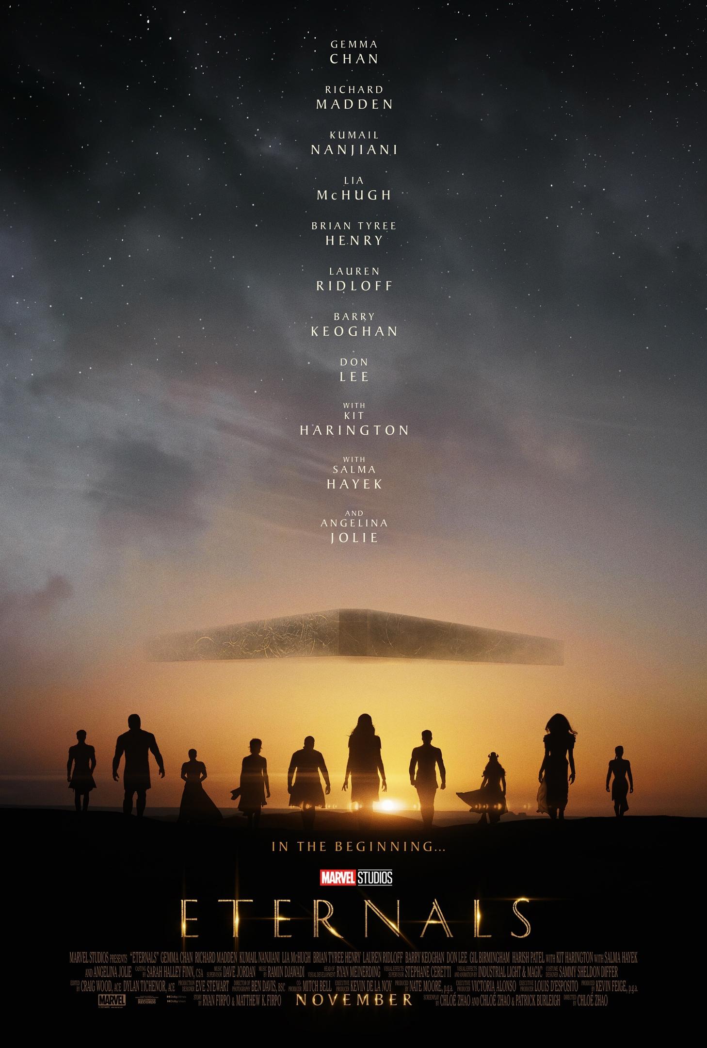 И первый постер «Вечных» Marvel идет следом за тизер-трейлером