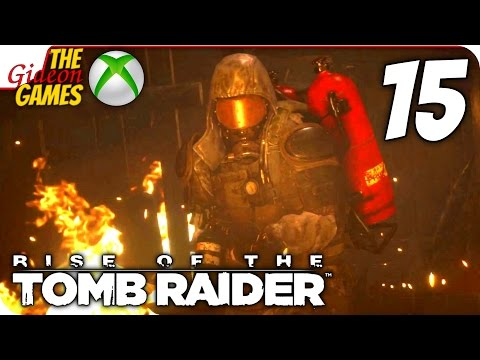 Прохождение Rise of the Tomb Raider на Русском XBOne - 15 (Жаркий бой)