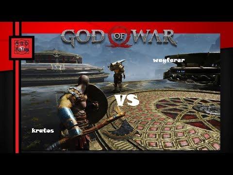 Бой с Путником в тяжёлых латах в God of War 4   На высоком уровне сложности