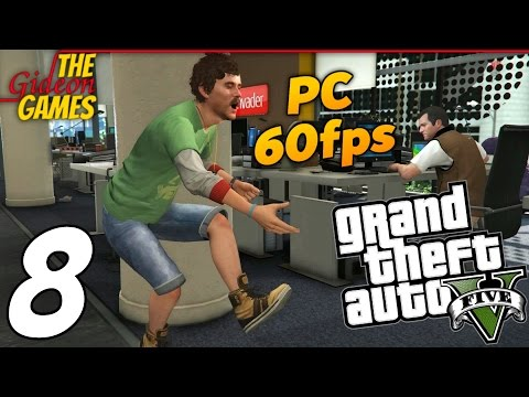 Прохождение GTA 5 с Русской озвучкой (Grand Theft Auto V)PС60fps - Часть 8 (Социальная сеть)