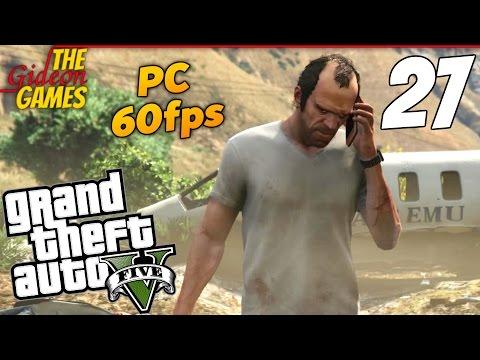 Прохождение GTA 5 с Русской озвучкой (Grand Theft Auto V)PС60fps - Часть 27 (Красная кнопка)