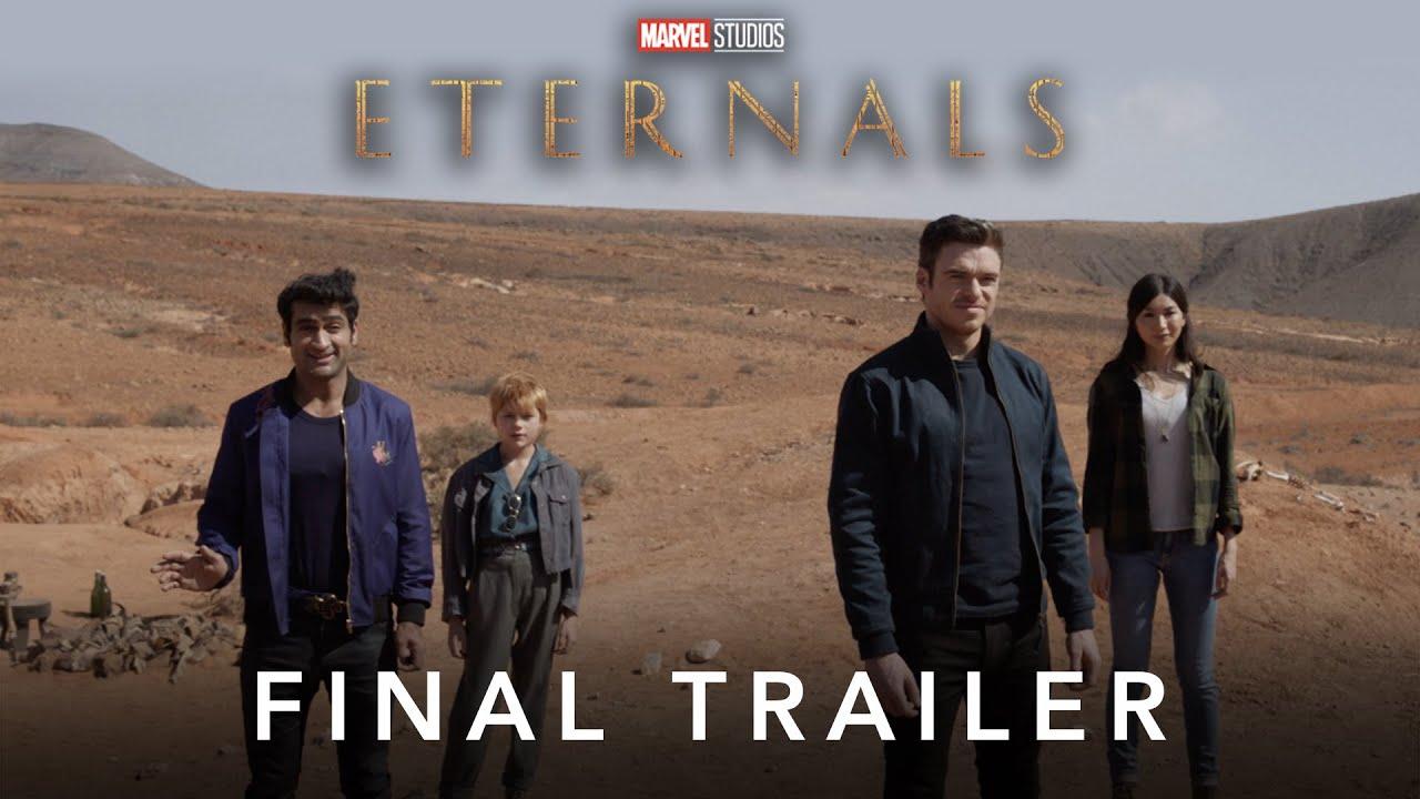 Новый трейлер в оригинале и дубляже фильма «Вечные» Marvel