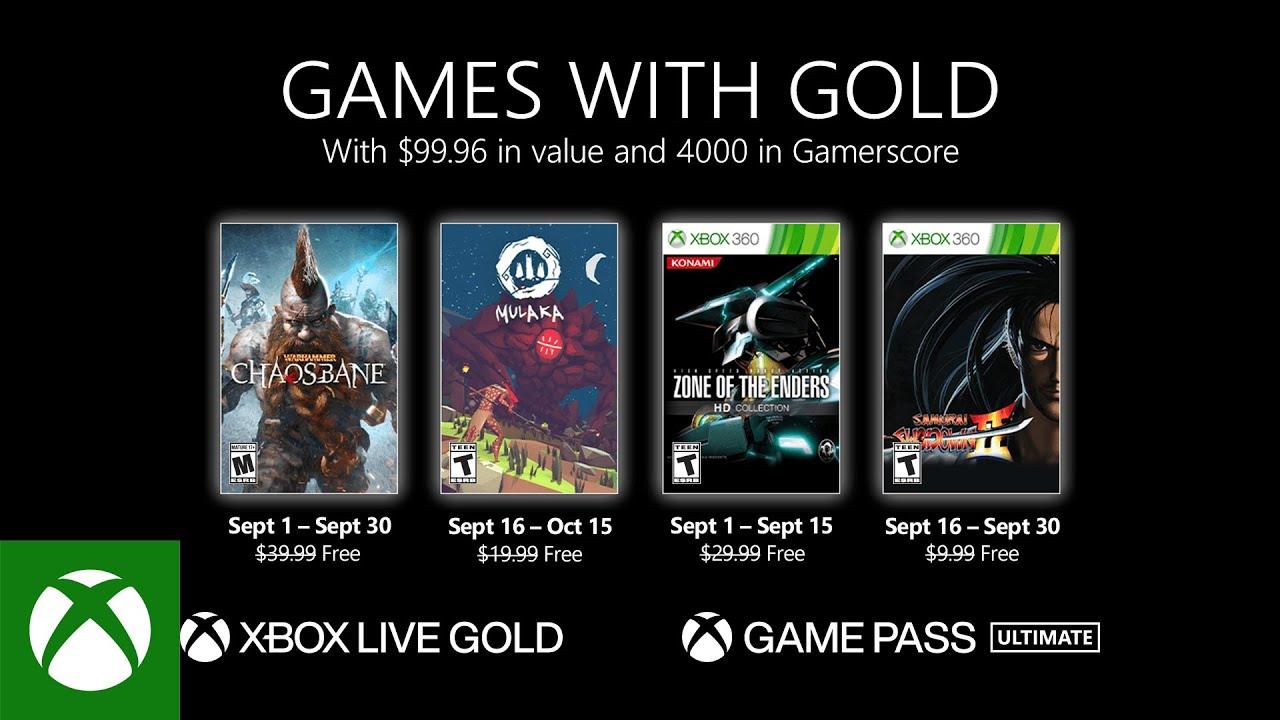 Microsoft объявила список игр для подписчиков Xbox Live Gold в сентябре