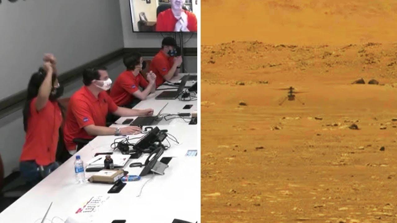 NASA сообщили о первом в истории управляемом полете на другой планете