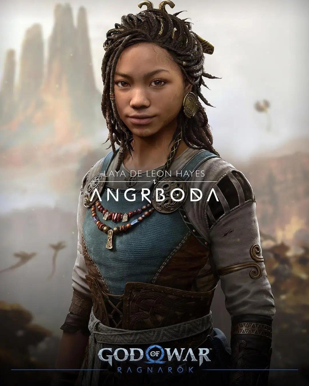 Девушка в конце трейлер God of War Ragnarok — Ангрбода