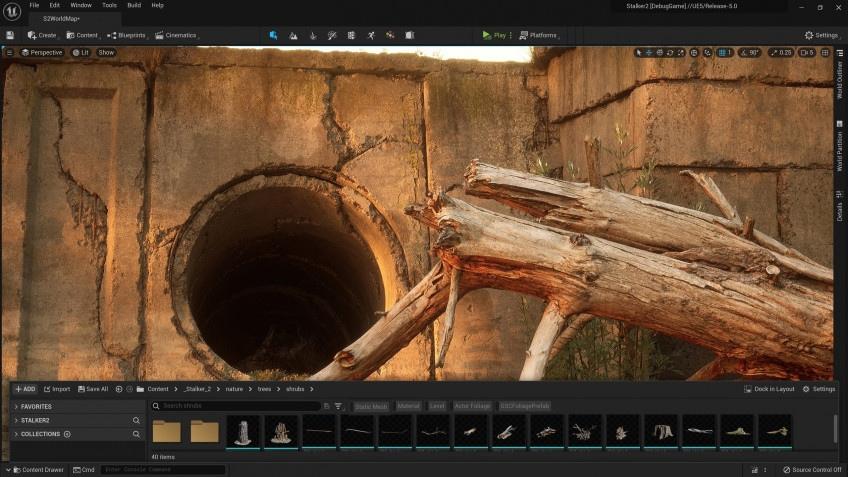 Разработчики S.T.A.L.K.E.R. 2 подтвердили, что игра создается на Unreal Engine 5 и поделились скриншотом из редактора