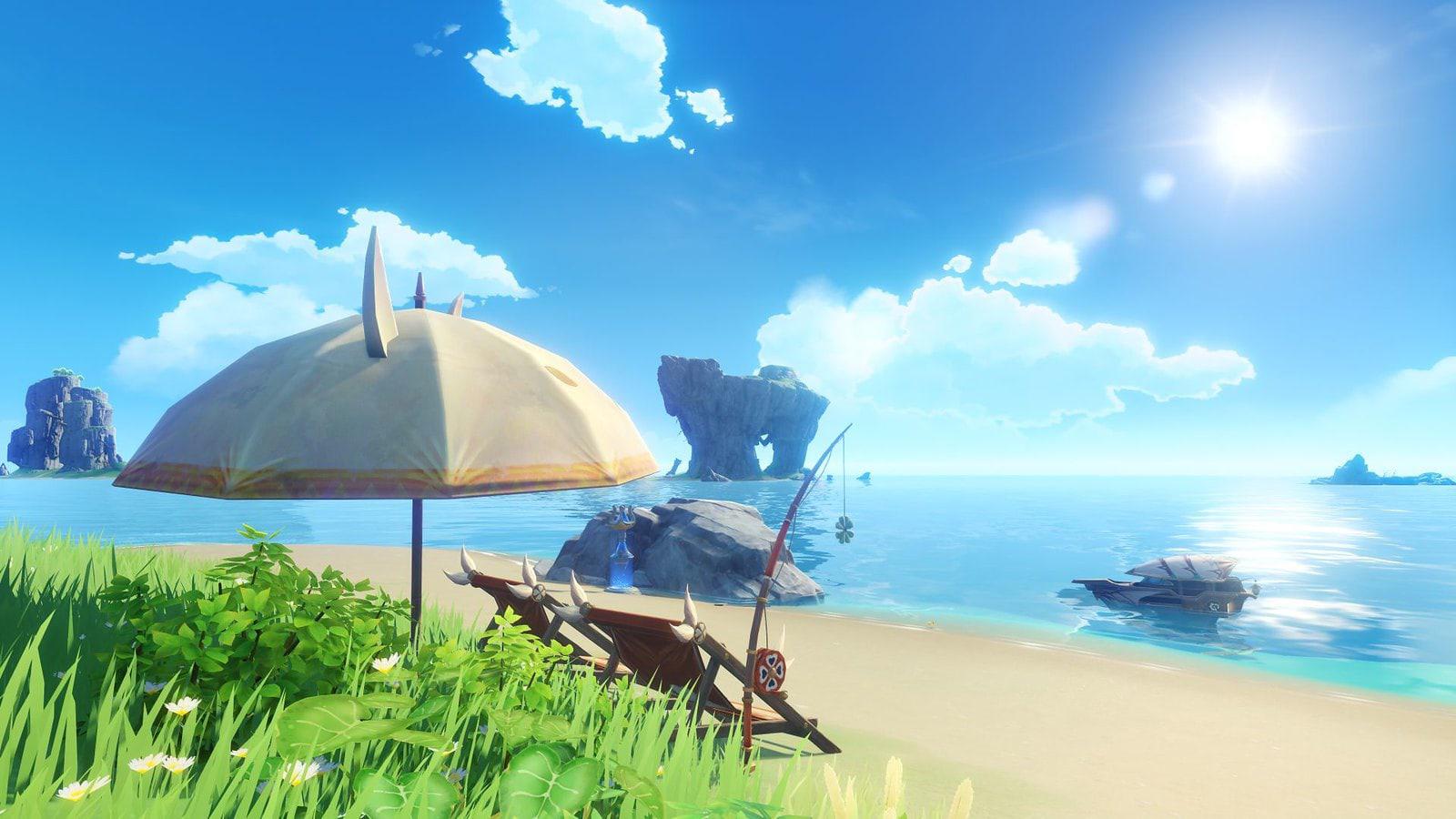 С выходом обновления 1.6 в Genshin Impact начнётся сезонное событие Midsummer Island Adventure