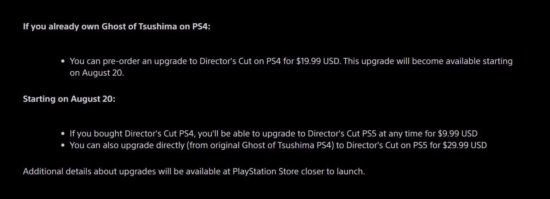 Подробности для владельцев стандартной версии Ghost of Tsushima по улучшению ее до режиссерской версии с новым сюжетным дополнением