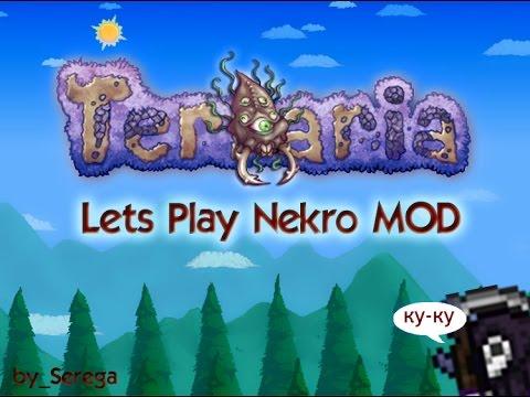 Lets Play Terraria NecroMod #1 Первая ночь и удивительные вещи