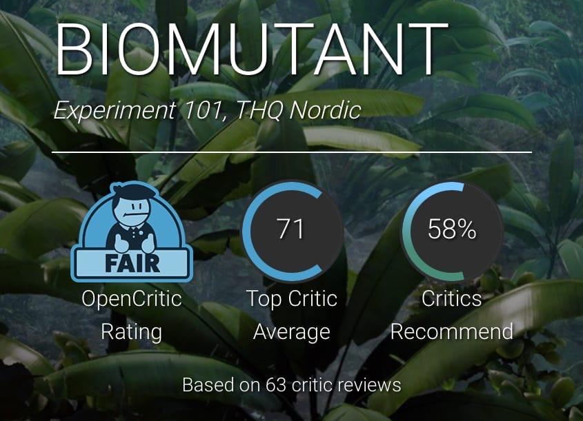 Оценки Biomutant. Мнения разделились, но многим игра показалась скучной, перегруженной и корявой. Зато она красивая.
